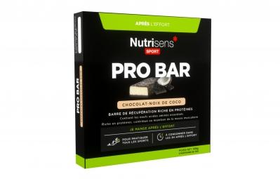nutrisens barre de recuperation pro bar 3 x 35g chocolat noix de coco