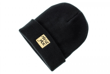 marie jade bonnet patch noir or