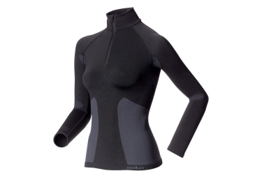 odlo maillot manches longues evolution warm zip noir femme
