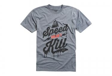 fox t shirt speed wobble ss tech tee heather gris