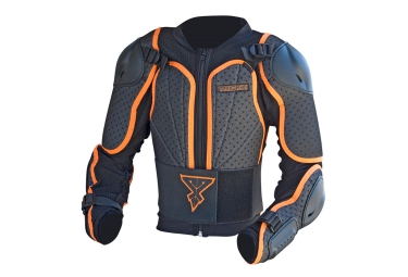 trick x protection integrale pib enfant noir orange