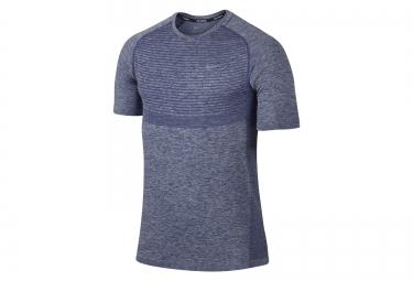 nike maillot dri fit knit bleu homme