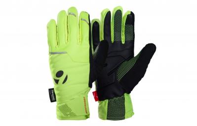 bontrager paire de gants velocis softshell jaune visibilite