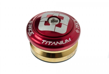 pride racing jeu de direction ti45 titanium rouge