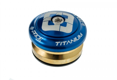 pride racing jeu de direction ti45 titanium bleu