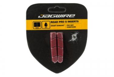 x2 cartouches de patins de freins pro s temps humide rouge