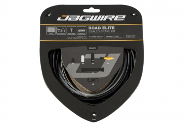 jagwire kit complet cables gaines freins road elite sealed noir