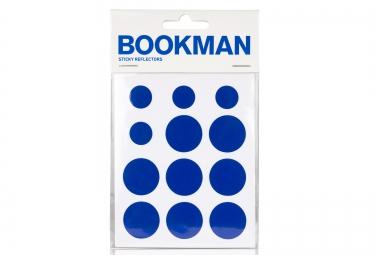 bookman stickers reflechissant bleu
