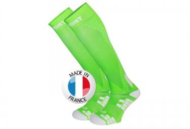 bv sport chaussettes de compression xlr vert