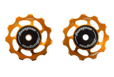 paire de galets hope 11 dents shimano 9 10 11 vitesses orange