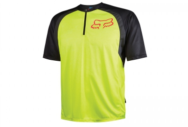 fox maillot manches courtes altitude ss jaune