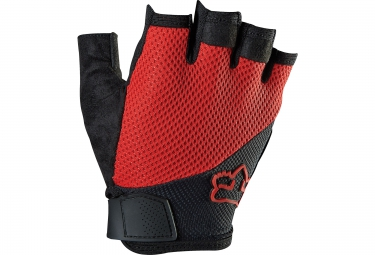 fox paire de gants courts reflex gel rouge