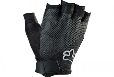 fox paire de gants courts reflex gel noir