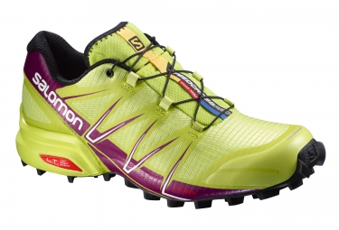 salomon speedcross pro jaune violet