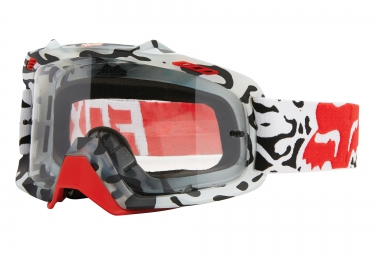 fox masque air space cauz blanc rouge ecran clear