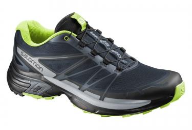 salomon chaussures wings pro 2 bleu vert noir