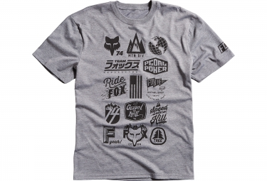 fox tee shirt mtn division tech tee heather gris