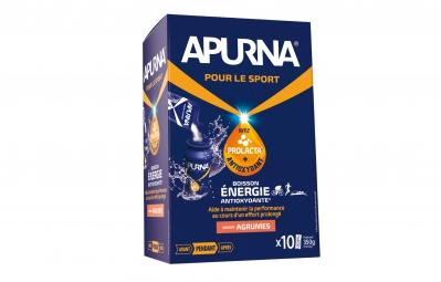 apurna boisson energetique agrumes boite 10x35g