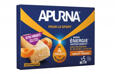 apurna barre energetique fondante abricot amande boite 5x25g