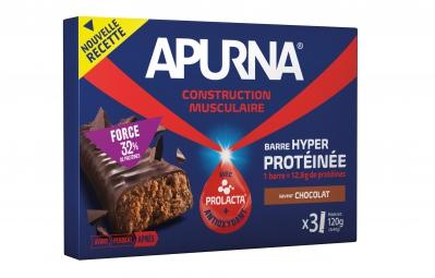 apurna barre hyperproteinee chocolat boite 3x40g