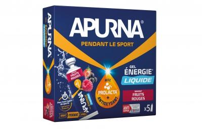 apurna gel energetique liquide fruits rouges 5x35g