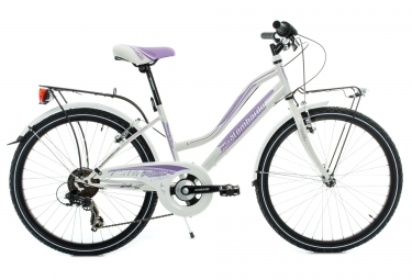lombardo velo enfant panarea fille 24 6 vitesses blanc violet