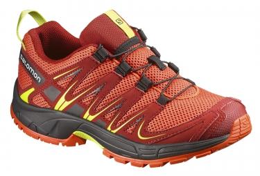 salomon chaussures xa pro 3d rouge jaune enfant
