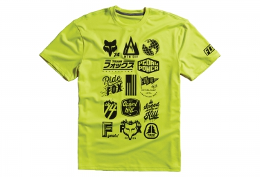 fox tee shirt mtn division tech tee jaune