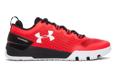 under armour charged ultimate low training rouge noir