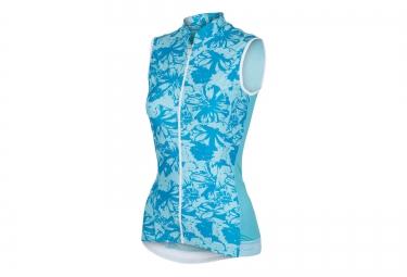 castelli maillot sans manches bellissima bleu femme