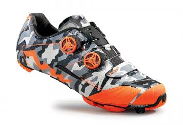 paire de chaussures vtt northwave extreme xc camouflage orange