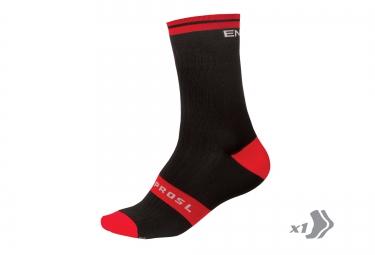 endura paire de chaussettes fs260 pro sl noir rouge
