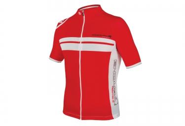 maillot manches courtes endura fs260 pro sl rouge blanc