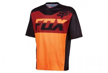 fox maillot covert manches courtes orange