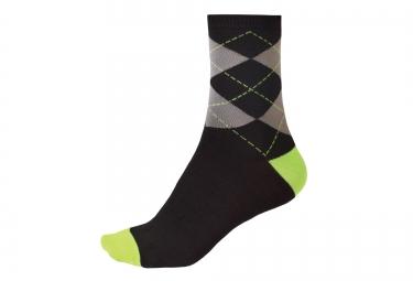 endura chaussettes argyll noir vert