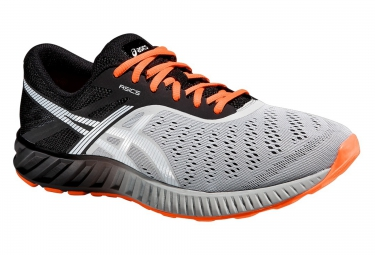 asics fuzex lyte noir gris orange