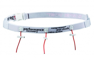 compressport ceinture porte dossard race belt blanc