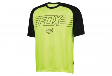 fox maillot manches courtes ranger ss prints jaune