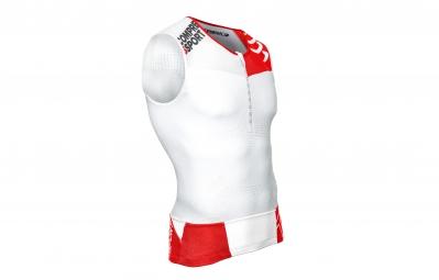 compressport maillot sans manche tr3 aero tank blanc