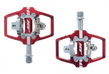 paire de pedales ht automatiques t1 rouge