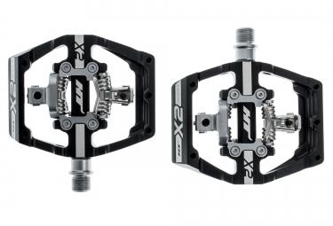 ht paire de pedales automatiques x2 noir