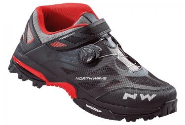 paire de chaussures vtt northwave enduro mid noir rouge