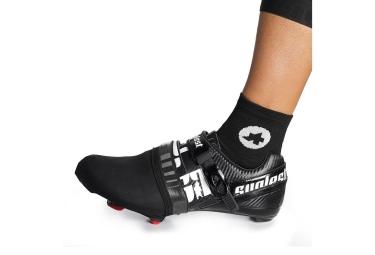 assos paire de couvre chaussures toe cover s7 noir
