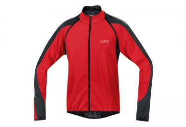 gore bike wear veste phantom 2 0 windstopper soft shell rouge noir
