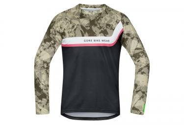 gore bike wear maillot manches longues power trail noir camo