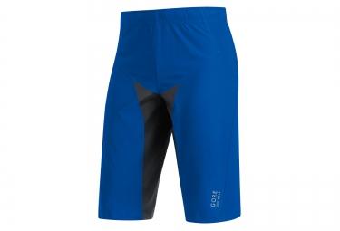 gore bike wear short alp x pro windstopper soft shell bleu noir