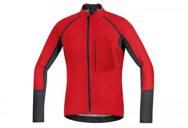 gore bike wear maillot alp x pro windstopper soft shell rouge noir