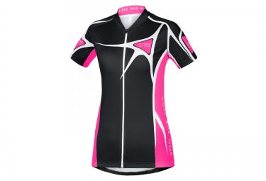 gore bike wear maillot element adrenaline noir rose femme