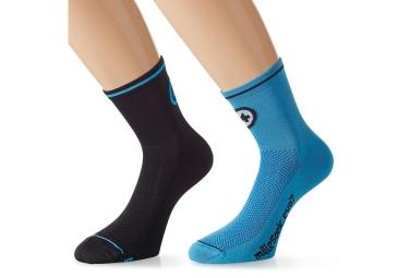assos paire de chaussettes millesocks evo7 noir bleu