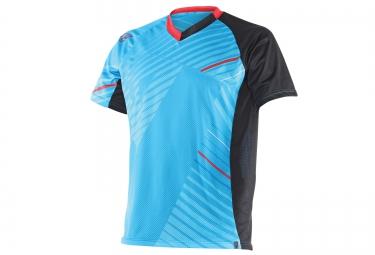 dainese maillot manches courtes flow tech bleu
